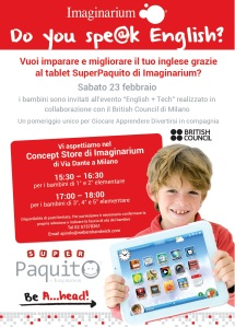 Do you speak English - Evento British Council e Imaginarium_23 febbraio ...