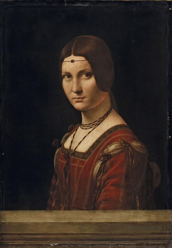 16 ID 156. Leonardo da Vinci Ritratto di dama (La Belle Ferronnière)