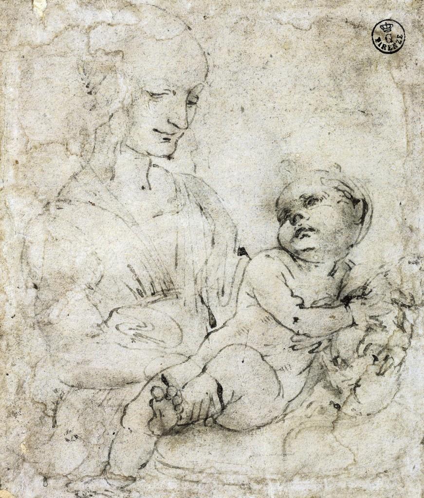 27 ID 27. Leonardo da Vinci Madonna col Bambino e un gatto