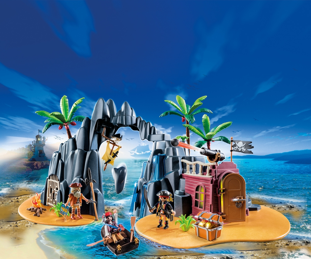 Isola del tesoro fortificata